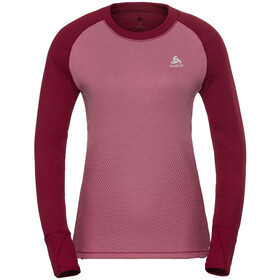 Odlo Suw Active Revelstoke LS Top Crew Women rumba red-mesa rose